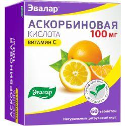 Аскорбиновая кислота, табл. 100 мг №60